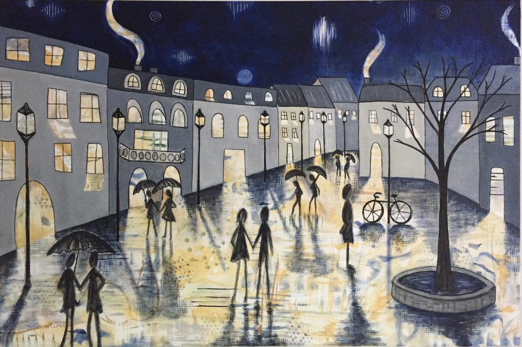 Rainy Night in the Village nathalievachon